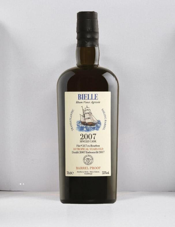 Rum BIELLE 2007 TRES HOMBRES CASK 217 70 anniversary